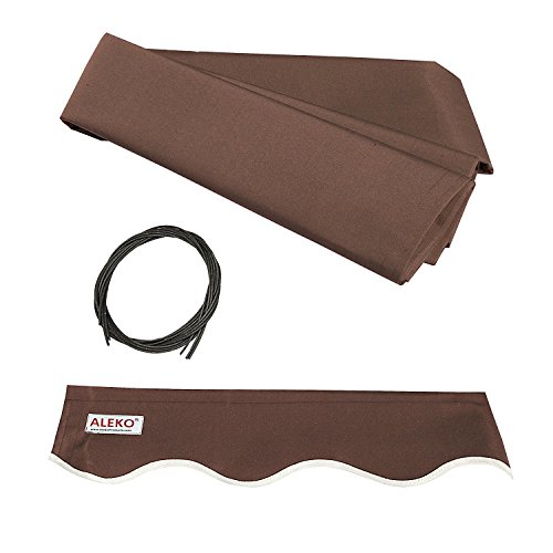 ALEKO FAB16X10BROWN36 Retractable Awning Fabric Replacement 16 x 10 Feet Brown by ALEKO