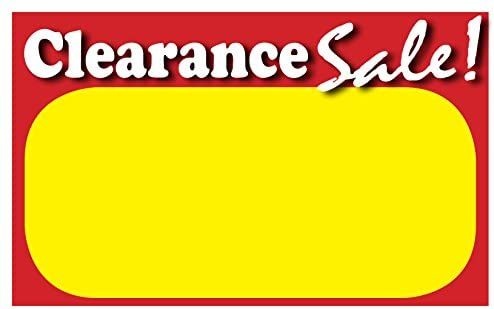 Amazon Com Retail Clearance Signs Template 5 5 X3 5
