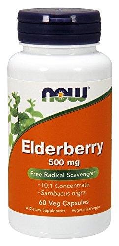 NOW Elderberry 500 mg,60 Veg Capsules