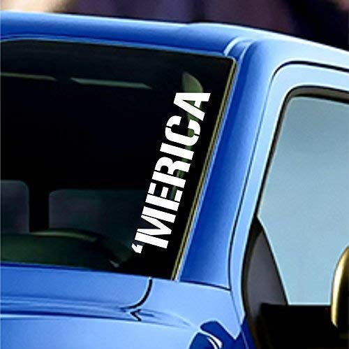 Merica Windshield Sticker Banner Vinyl Decal America American Car Truck Bumper Sticker