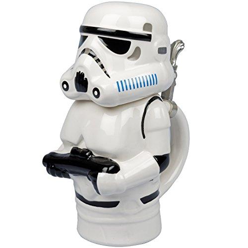 Star Wars - Stormtrooper Ceramic Beer Stein with Hinged Lid - 22 ()