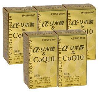 α-リポ酸&CoQ10(90粒)【5本セット】マルマン B001CNE6CM
