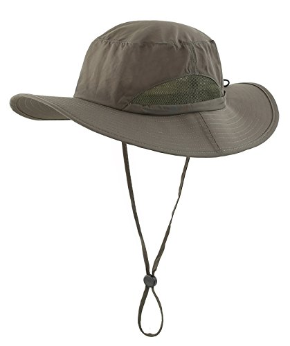 悲劇可動通貨(コネクタイル) Connectyle 日常用 メンズ アウトドア メッシュ 撥水 サファリハット 無地 つば広 UVカット ハット 日焼け防止 釣り帽