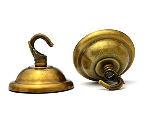 2-Pack Vintage Ceiling Chandelier Pendant 1inch Swag Hook 2-2/3in Dia 2 inch Hight (Brushed Antique Bronze) - Dia Brushed Antique