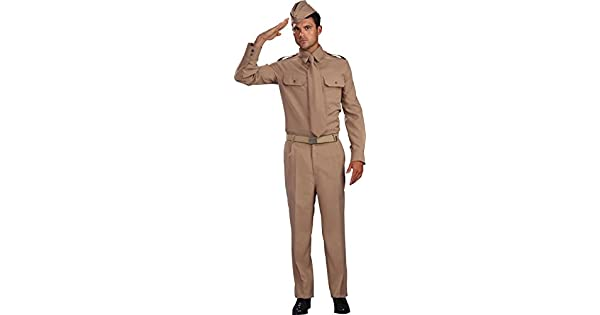 Amazon.com: Hombres adultos de WW2 Ejército Uniforme Fancy ...