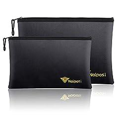 1pcxNoiposi Fireproof Document Bag 1pcxNoiposi Fireproof Money Bag