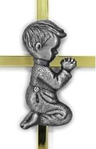 Angel's Treasure Gold and Silver Boy Wall Cross - First Communion, Baptism, Birthday Gift, Infant Blessing, Baby Wall Decor by Angel's Treasure (Image #1)