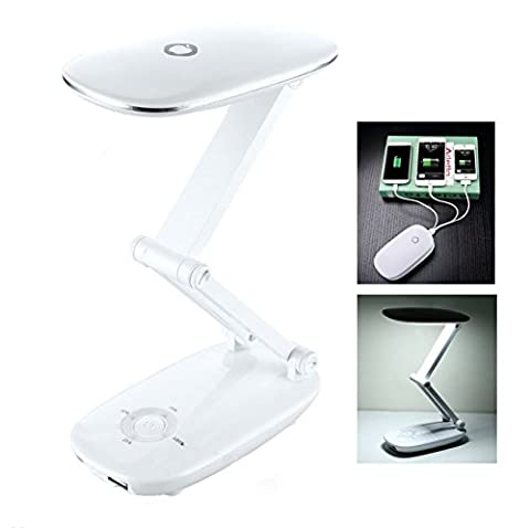 APAS USB Recharging Eye Protection Foldable LED Desk Lamp & Portable Power Bank 6000mAh for iPhones, - 2s Ap