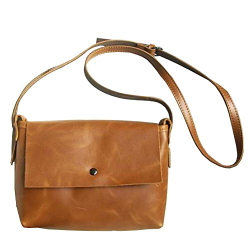 Women's Cassie Small Vintage Genuine Leather Casual Satchel Shoulder Messenger Crossbody Bag Handbag