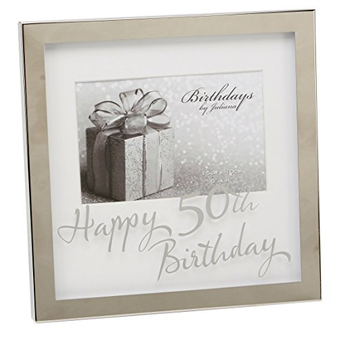 Oaktree Gifts 50th Silverplated Edge Box Frame 6 x 4