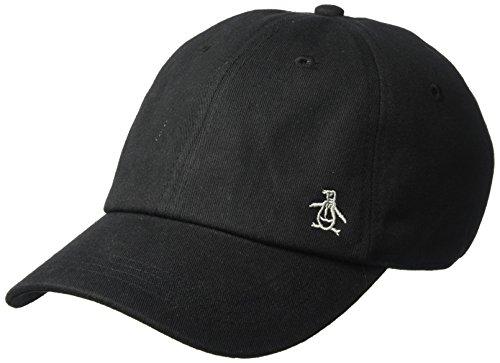 Original Penguin Men's Twill Logo Baseball Cap, Black, OSFA