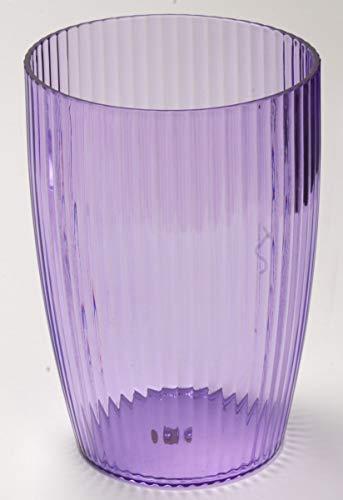 Ben & Jonah Ribbed Acrylic Waste Basket in Magenta Splash Collection ()