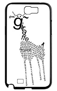 Giraffe Animal Cover Pet Giraffe Series Hard Case Cover and Protector for Samsung Galaxy Note 2 - Black