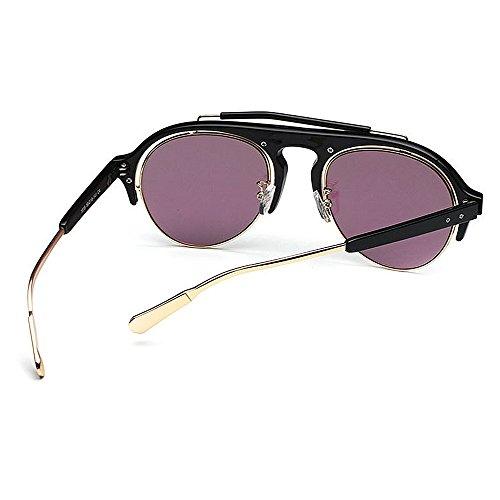 Viajar Frame Aire Rimless UV Unisex al Negro de Color Gafas Print Color Libre Verde Protección Conducción Sol Semi Lente de Personalidad q41AT