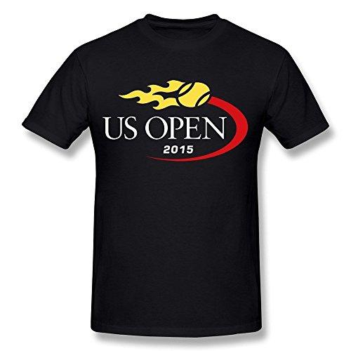 Men's 2015 Us Open Tennis Logo Short Sleeve Tee Size M Black