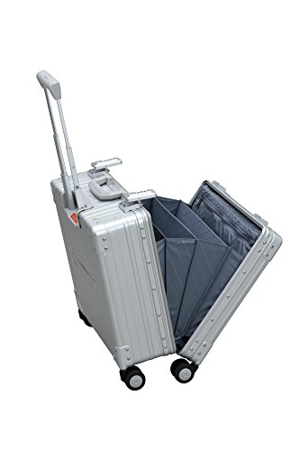 Aleon 17'' Deluxe Rolling Wheeled Aluminum Hardside Business Briefcase (Platinum) Silver by ALEON (Image #3)