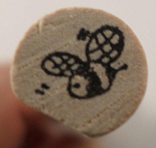 Judith Flying Bumble Garden Bee Wooden Rubber Stamp