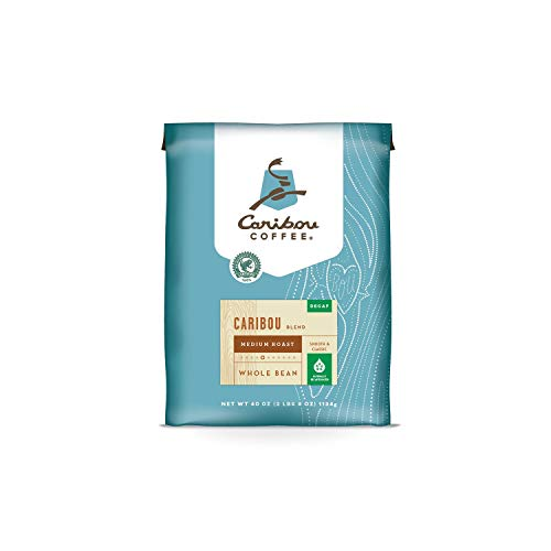 Caribou Coffee Whole Bean, Decaf Caribou Blend (40 oz.) - (Original from manufacturer - Bulk Discount available)