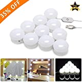 Vanity Mirror Lights, LED Makeup Lights with 10 Dimmable Bulbs for Makeup Dressing Table,USB Power Supply and 4.8M Hidden Adjustable Length(Mirror Not Include)