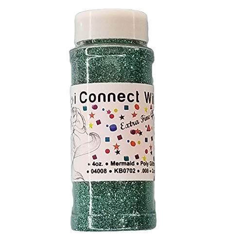 - Mermaid, Extra Fine Poly Glitter 1/128, 4oz Shaker Bottle