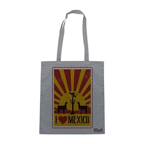 Borsa I Love Mexico Sun - Grigia - Famosi by Mush Dress Your Style