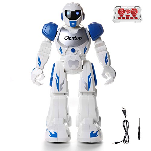 Glantop Remote Control Rc Robots Interactive Walking Singing Dancing Smart Programmable Robotics For Kids Boys Girls  Blue