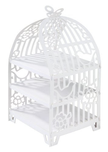 Talking Tables White Cake Stand Birdcage Centrepiece | Great For Tea Party, Birthday Party, Baby Shower, Wedding And Anniversary | Paper]()