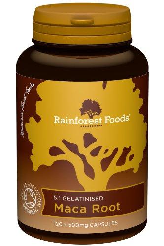 Rainforest Foods Organic Maca Root 5:1 120 (Root Food 120 Capsules)