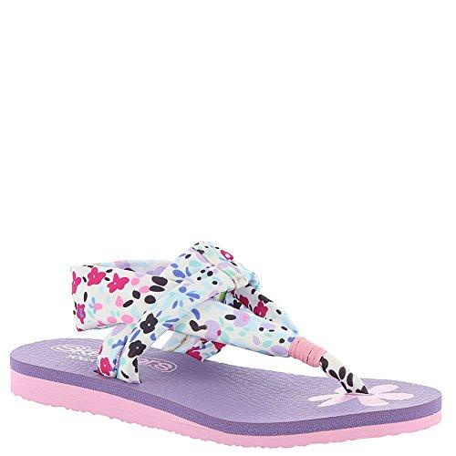 Skechers Kids Womens Meditation 86908L  White/Multi 3 Little