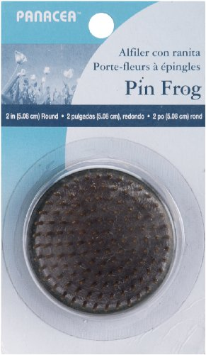 Panacea Pin Round Frog, 2-Inch, Brass, (Frog Pins)