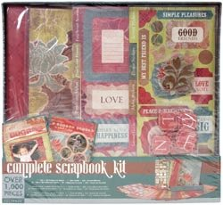 Colorbok Brown Floral Postbound Album Kit, 12-Inch by 12-Inch (Colorbok Scrapbook Kit)