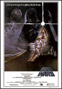 Star Wars Poster A New Hope Thin Profile Framed