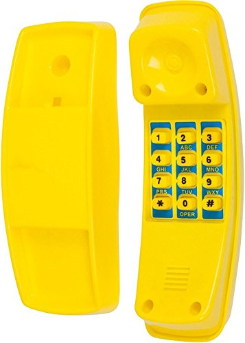 Swing Set Stuff Telephone with SSS Logo Sticker, Yellow