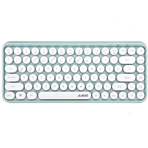 FELiCON Wireless Bluetooth Keyboard Mini Portable 84-Key Keyboard Compatible with Android, Windows, PC, Tablet-Dark, Perfer for Home and Office Keyboards
