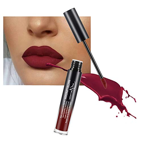 Lip Gloss by Rejawece - Waterproof Long Lasting Matte Lip Gloss Liquid Lipstick Beauty Makeup Cosmetics Lip Stick (Color 21#)