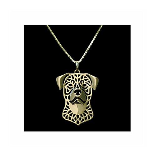 Gold Rottweiler Necklace (Jewelry Rottweiler)