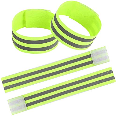 CLUB TWENTY ONE Reflective Arm Band Nwith Stripes, Stretchable, Free Size, 2 Arm/Ankle Bands, and Carry Pouch for Outdoor Sports Neon Price & Reviews