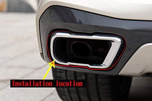 DIYUCAR Joint de tuyau d/échappement en acier chrom/é pour X5 2019 accessoires