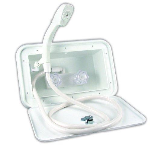 JR Products QQ102-A Qq102-A Polar White Exterior Shower 5M102-A