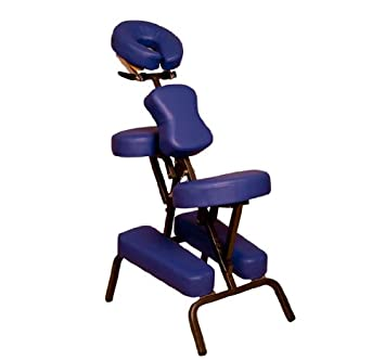 aosom portable folding massage chair u2013 blue