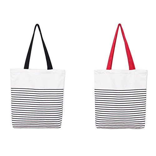 Stripes School Color Stitching Women Shopping or Canvas Bag Leisial Stirpe for DIY Design Shoulder Simple Bag Handbag Environmental Protection Beach wUBXxq0