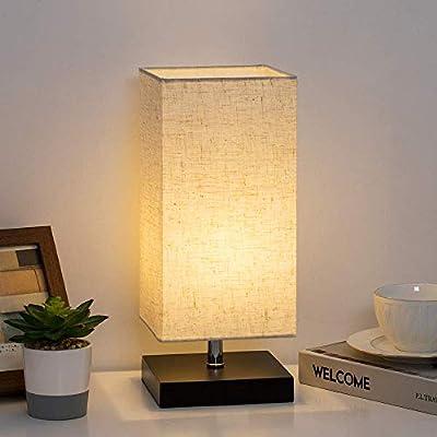 Lámpara de noche Lámpara de noche moderna con pantalla de tela ...