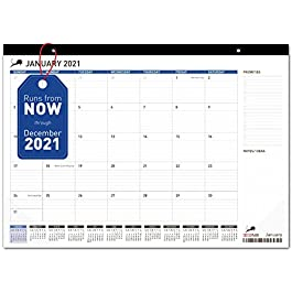Desk Calendar 2021-2022 – Monthly Planning Desk Pad & Wall Calendar for Home, School and Office – Superior Ink Bleed…