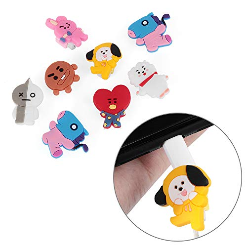 Data Line Cover Charging Cable Bite Kpop Bangtan Boys BT21 Cute Phone Charge Cable Conector Protector TATA Cooky Van (RJ) by maxgoods (Image #3)