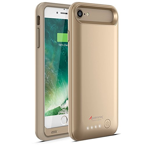 iPhone 8/7 Battery Case, Alpatronix BX170 4.7-inch 3200mAh Ultra Slim Protective Portable Rechargeable Extended Charging Cover Backup Case for iPhone 8 & iPhone 7 Juice Bank Power Pack - Gold