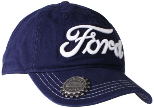Ford Men's 3D Embroidered Hat With Bottle Opener, Navy, One Size