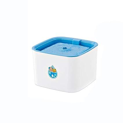 BSJZ Dispensador Automático De Agua para Mascotas Estilo Flor Fuente Eléctrica Gato Tazón para Perros Dispensador
