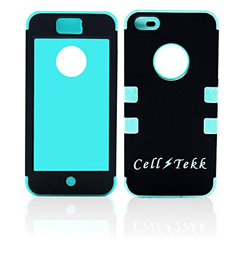 iPhone 5 Case Cover Cases Fits 5S & 5G Superior High Quality New by [Cell Tekk] Dual Layer Hybrid Rugged Protection Teal Blue Silicone Skin Black Apple Shockproof Heavy Duty Best Review Easy On/Off Discounted Price Limited Supply Buy Now! (Ebay Best Offer Sold Price)