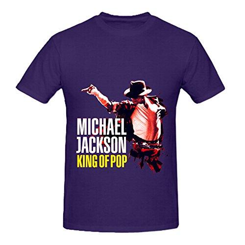 Michael Jackson King Of Pop R&B Album Cover Men Crew Neck 100 Cotton Tee Purple