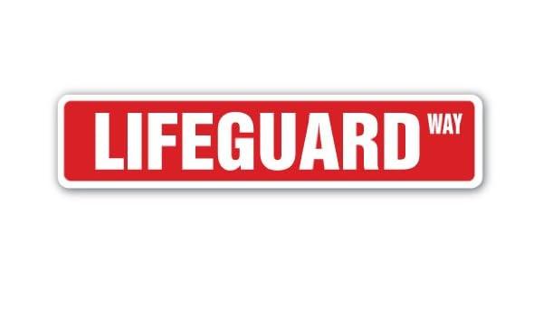 "18/"" Wide Indoor//Outdoor LIFEGUARD Street Sign swimming pool lake ocean life"